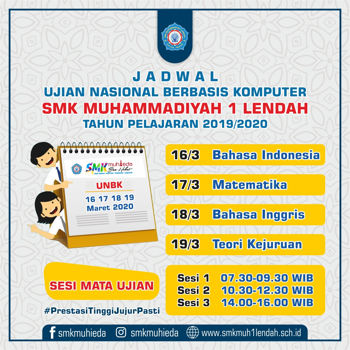 Jadwal Ujian Nasional Berbasis Komputer (UNBK)