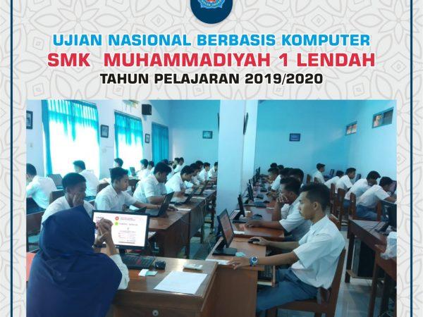 Pelaksanaan UNBK 2019/2020 SMK Muhammadiyah 1 Lendah