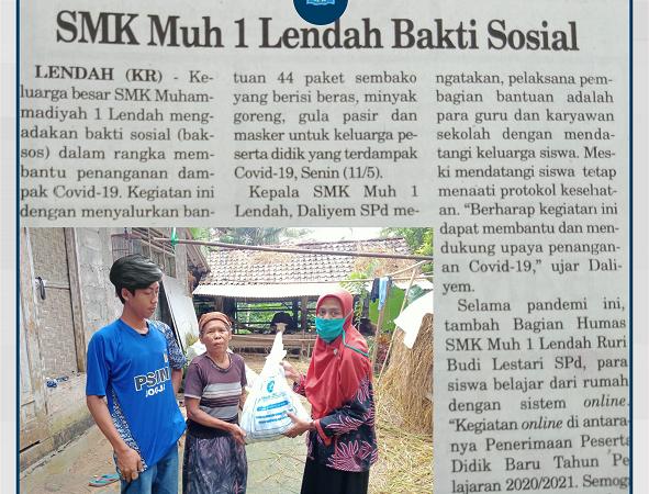 Baksos SMK Muh 1 Lendah (Kedaulatan Rakyat)