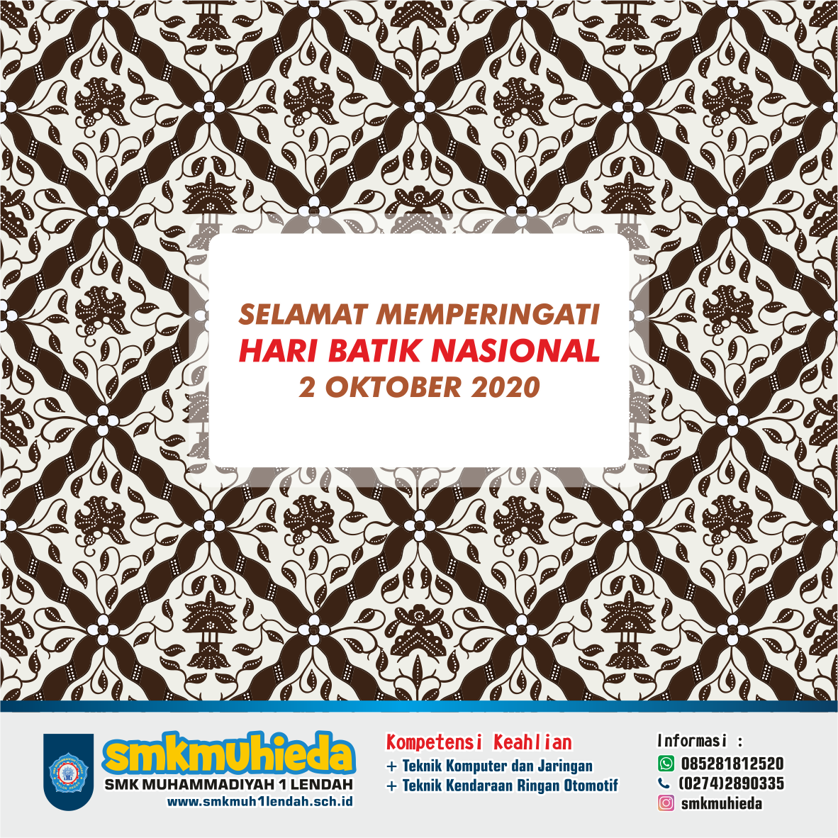Selamat Hari Batik Nasional 2020