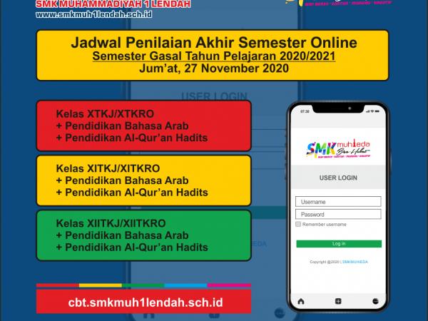 Jadwal PAS Semester Gasal 27/11/2020