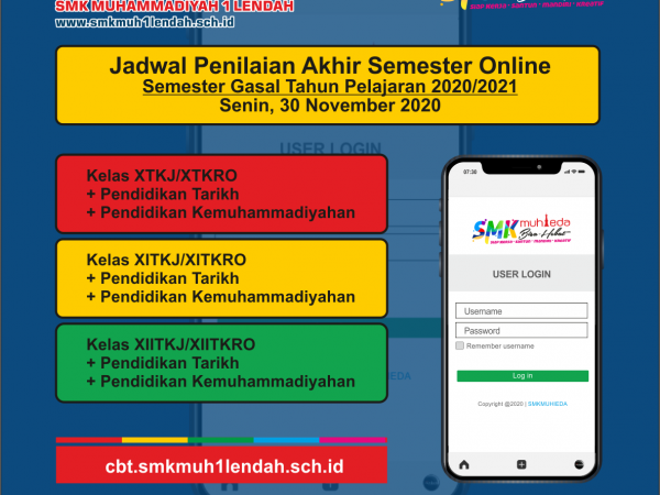 Jadwal PAS Semester Gasal 30/11/2020
