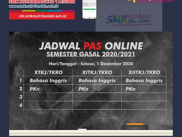 Jadwal PAS Semester Gasal 1/12/2020
