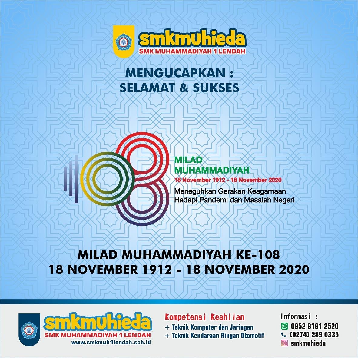 Selamat Milad ke 108 Muhamadiyah