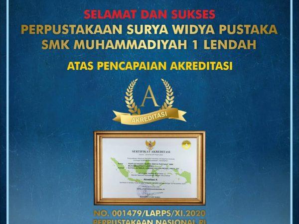 Selamat ! Perpustakaan SMK Muhieda terakreditasi A