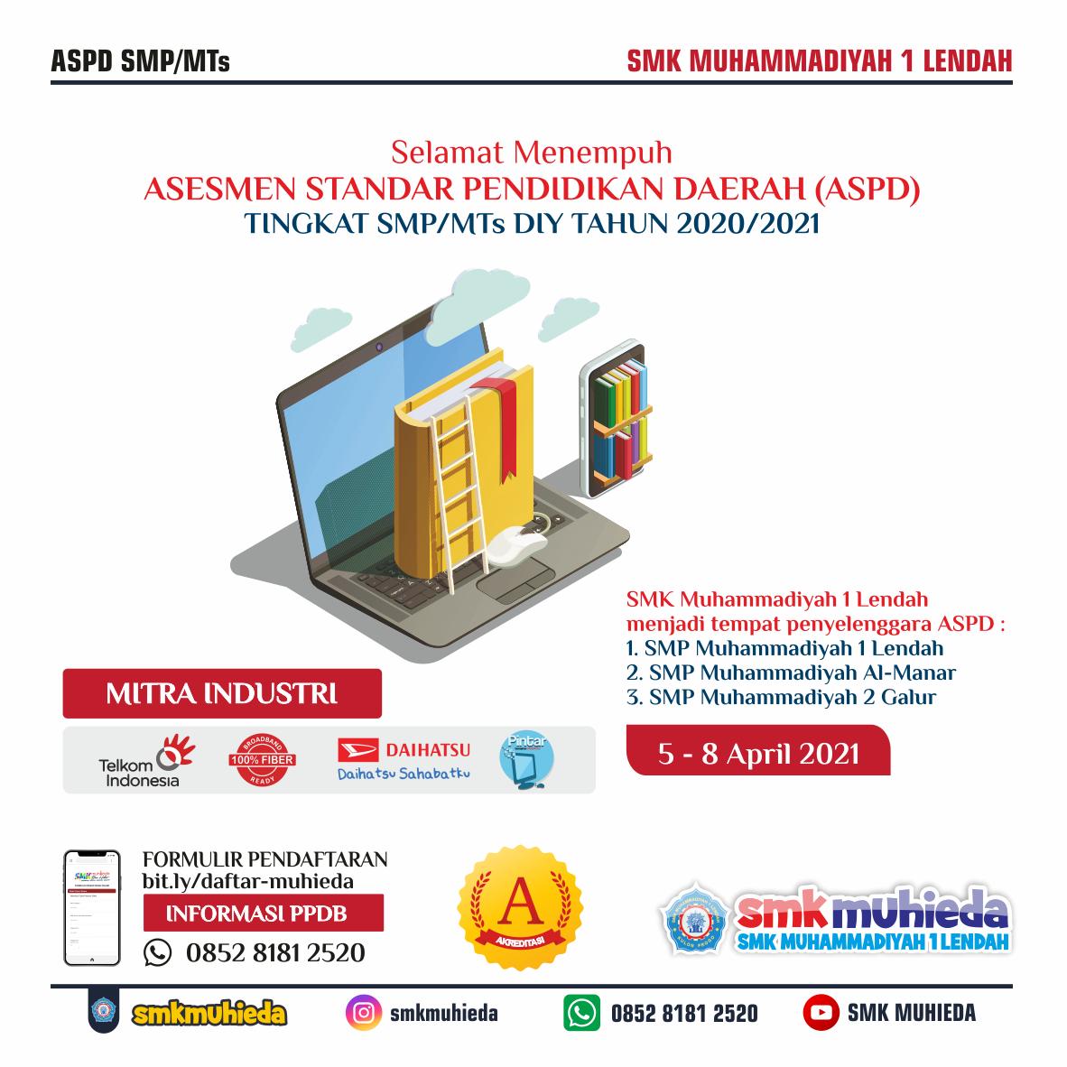 Asesmen Standar Pendidikan Daerah (ASPD) jenjang SMP/MTs