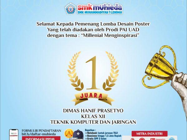 Selamat ! Siswa Muhieda Juara 1 Lomba Poster UAD