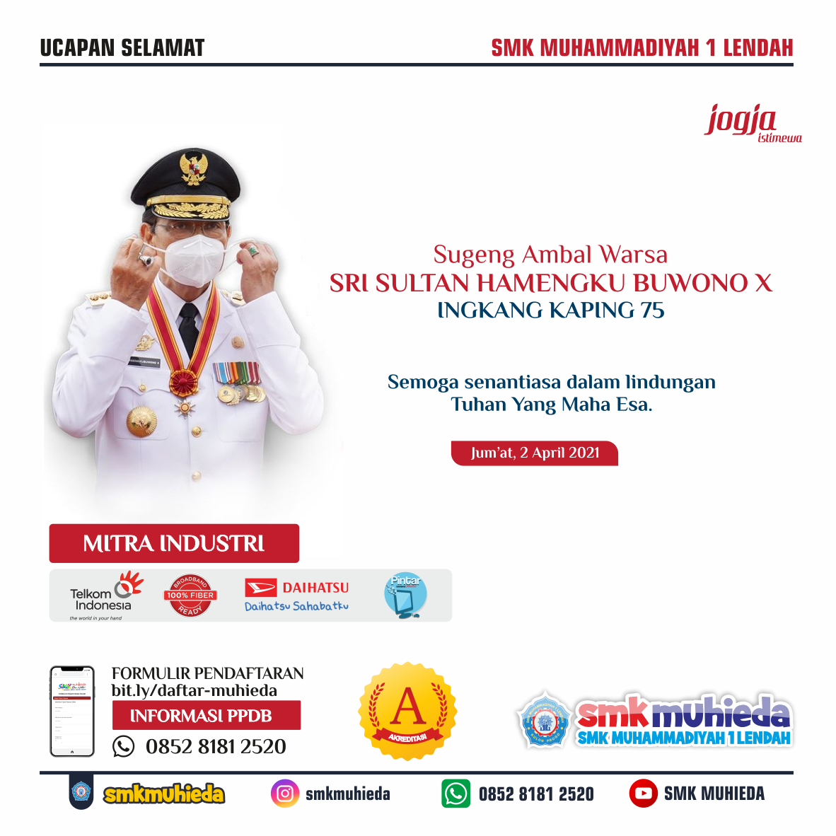Sugeng Ambal Warsa Sri Sultan HB X