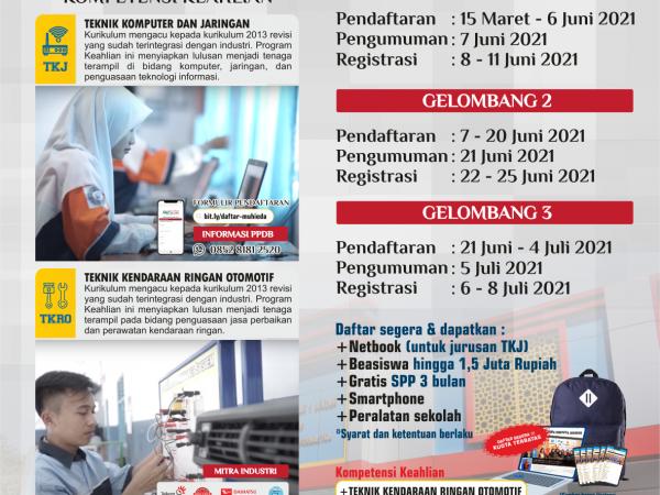 Gelombang Pendaftaran PPDB SMK Muhieda